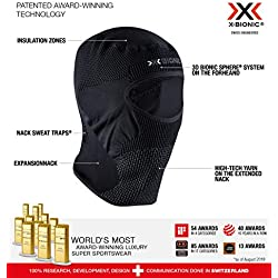 X-Bionic Stormcap Eye 4.0 Balaclavas Windstopper, Unisex Adulto, Black/Charcoal, 2