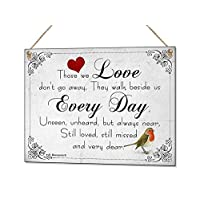 Beenanas Those We Love Robin Sympathy Metal Hand Made Plaque & Fridge Magnet Keepsake Gift Set