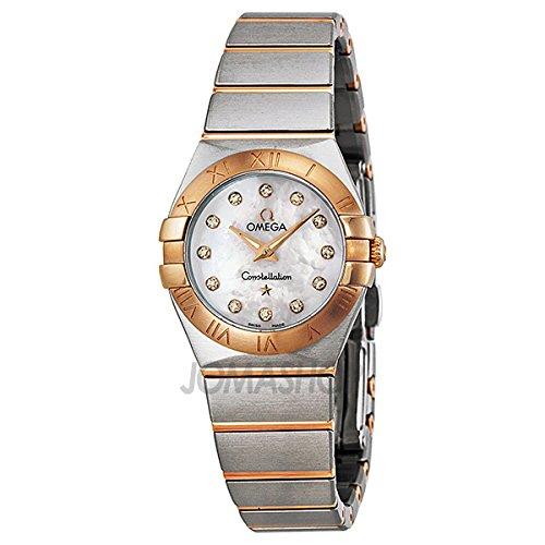 Omega Omega Constelación Diamante Madre de Perla Dial Rose Oro y Acero inoxidable Acero Damas Reloj 123.20.24.60.55.001