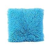 Gusspower-Funda de Almohada,León Felpa Cuadrado Manta Decorativa de Terciopelo Funda de Almohada Cama Funda para cojín de decoración para el hogar (Cielo Azul)