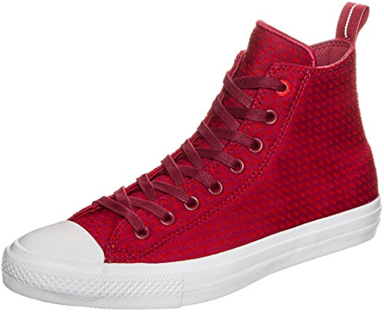 Converse Chuck Taylor All Star II Shield in Lycra High scarpe da ginnastica da uomo, rosso fuchsia   weiß, 8.5 US - 42 EU | La prima serie di specifiche complete per i clienti  | Uomo/Donne Scarpa