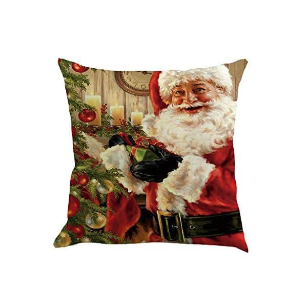 IJKLMNOP Christmas Pillow Square Pillow Case Lino Mat 45x45cm es Adecuado para oficinas, Casas, automóviles, cafeterías… 7