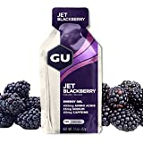 GU Original Sports Nutrition Energy Gel - 24 Count (Jet Blackberry)
