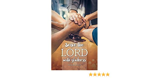 Servanthood Bulletin KJV - Package of 100 Serve the Lord with gladness