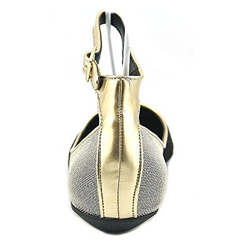 BCBG Paris Zuma Femmes Daim Chaussure Plate Black-Silver-Gold