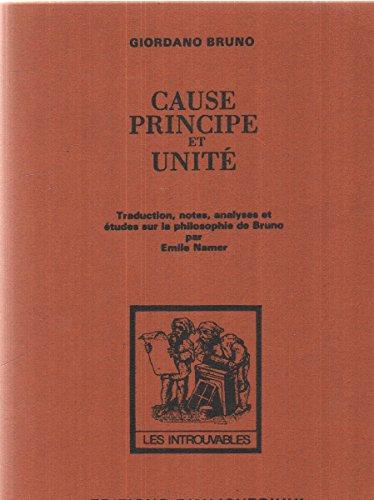 Cause, principe et unité