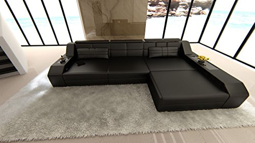 Sofa Karlsruhe L Form Ecksofa schwarz
