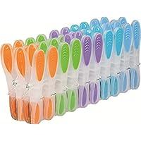 GIMI Soft & Strong - Pinzas para la ropa, con mango suave, con resorte galvanizado, plástico, multicolor, 3 x 1.8 x 8.5 cm, 20 piezas