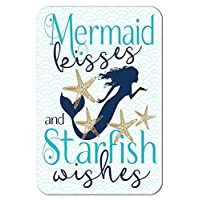 Daniu Mermaid Home Poster Decor Sign Co-worker Gift Room Wall Decor Photo Shoot Prop Metal Sign 8 * 12 Inches