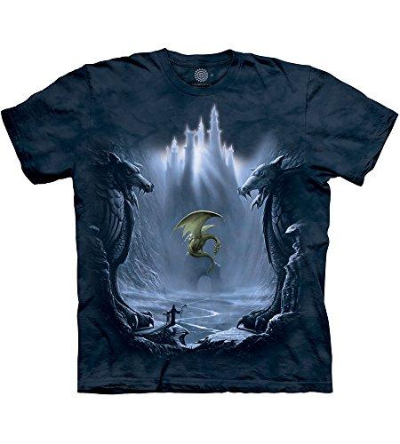 The Mountain Unisex Erwachsen Lost Valley Fantasie T Shirt, Blau, 3XL