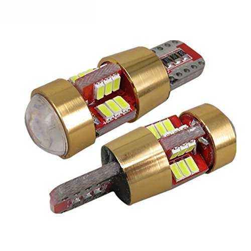 KaTur 2 Pcs W5 W T10 LED 3014 SMD CANBUS de Voiture Ampoule Lampe LED Intérieur Lumière extérieure Libre de Lampes Design Auto LED Source de Lumière.