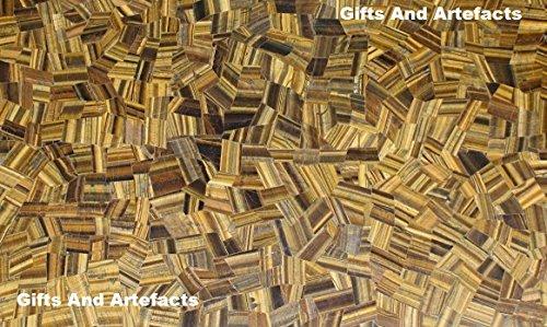 Gifts And Artefacts 121,9x 91,4cm Tiger Eye zufällige Marmor Mosaik-Kunst Sofa Center Tisch Top - Marmor Top Sofa Tisch