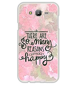 FUSON So Many Reasons Happy Designer Back Case Cover for Samsung Galaxy On7 Pro :: Samsung Galaxy On 7 Pro (2015)