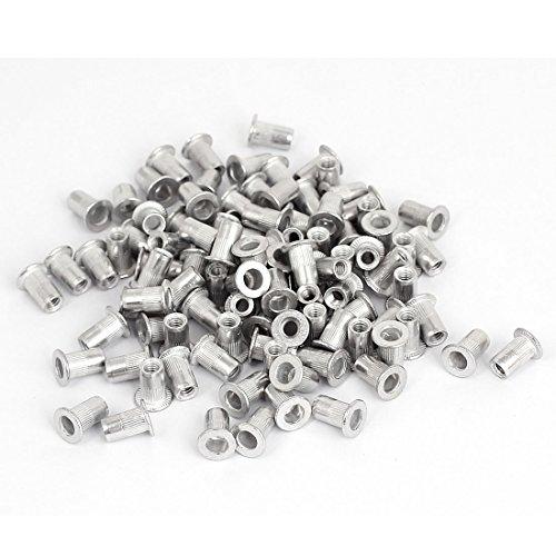 sourcingmap® 100stk. M4x11mm Aluminium Gewinde Flachkopf Nietmuttern Einsetzen Nutserts de -