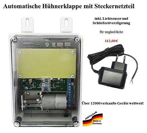 automatische Hühnerklappe mit Steckernetzteil - Direkt vom Hersteller!
