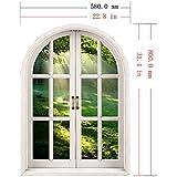 ZHFC-3D falsa ventana pared dormitorio sala de estar Estudio Decoracion de fondo se puede quitar sin dejar adhesivo mural pared 58 * 80cm