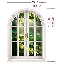 ZHFC-3D Falsa Ventana Pared Dormitorio Sala de Estar Estudio Decoracion de Fondo se Puede
