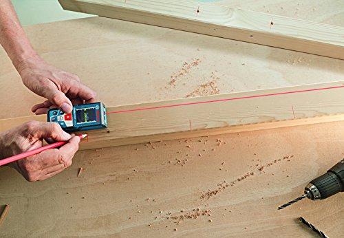 Bosch Professional GLM 50 C Laser-Entfernungsmesser (Messbereich 0,05-50 m, Bluetooth Schnittstelle für Apps (iOS, Android), drehbares Farb-Display, Schutztasche, IP54 Staub- und Spritzwasser-Schutz) 0601072C00 - 5