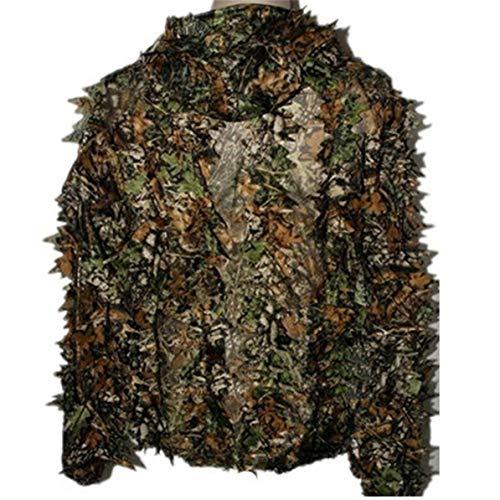 Corneliaa Lebensechte 3D Blätter Camouflage Poncho Mantel Stealth Anzüge Outdoor Woodland CS Spiel Kleidung Universal für die Jagd Schießen Free People-poncho