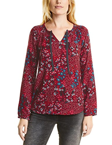 CECIL Damen Bluse 340625 Rot (Velvet Red 30986), Medium