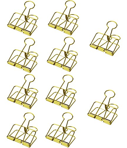 mSure Foldback Klammern 10 Stück Papierklammern Büroklammern Kleiner Binder Clip für Büro...