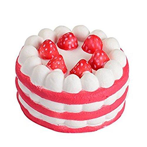 Squishy kawaii,yeehoo la torta squisita della fragola jumbo lenta che aumenta il tocco di squishies molle del fascino