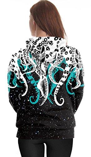 Belsen Damen Kapuzenpullover mehrfarbig mehrfarbig Octopus