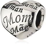 - 51uKdmjcCUL - Pandora Women's 925 Sterling Silver Heart Charm Bead