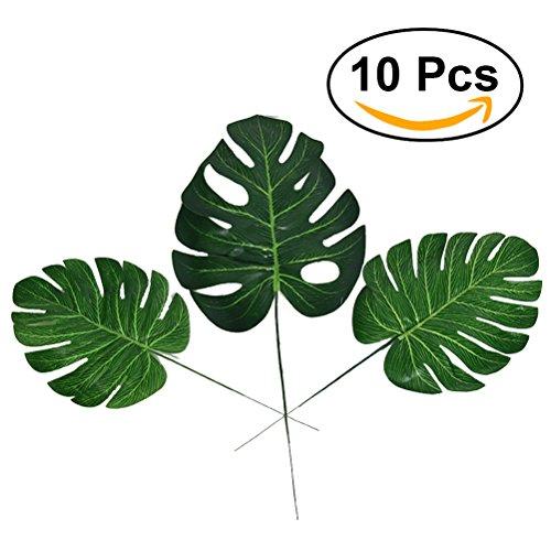 winomo Tropische Blätter Künstliche Palm Blatt für Hawaiian Luau Thema Party Dekorationen Home Garten Tisch Dekoration 100–L