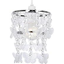 Moderna Pantalla de Lámpara de Techo con Cascada de Mariposas MiniSun en Acrílico Transparente