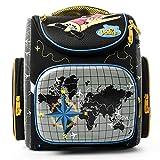 Delune Premium Flugzeug 3-108 Schulrucksack Kinderrucksack Jungen Taschen Rucksack