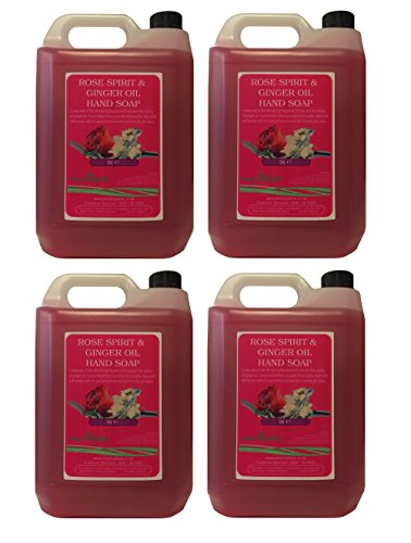 4-x-5-litres-of-rose-spirit-ginger-professional-liquid-hand-soap-5l