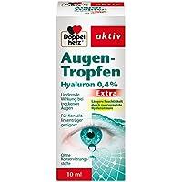 Doppelherz Augen-Tropfen Extra Hyaluron 0,4 % / Feuchtigkeitsspendende Augentropfen mit lindernder Wirkung bei... preisvergleich bei billige-tabletten.eu