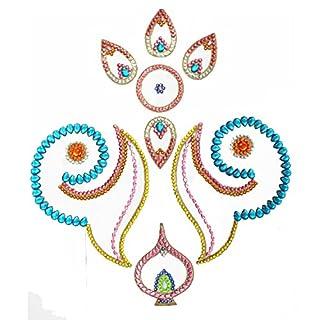AMBA HANDICRAFT Rangoli / Wohnkultur / Diwali / Geschenk für Haus / Innenraum handgefertigte / Bodenaufkleber / Wandaufkleber / Wanddekoration / Bodendekoration / Neujahr Geschenk / Party.RANGOLI 002