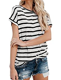 ebc7fd3e4d599 Amazon.es  camiseta rayas negras y blancas - Camisetas
