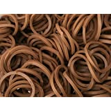 600 Chocolate Brown Loom Bands / 24 Clips Connectors