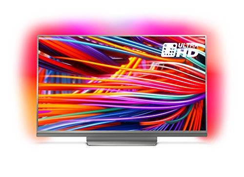 Philips 65PUS8503/12 65-Inch 4K Ultra HD Android Smart TV with HDR Plus and 3-sided Ambilight - Metalic Silver (2018 Model)