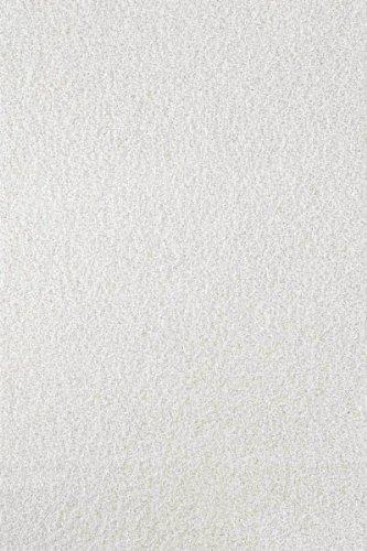 Lalee  347138203  Hochflor Shaggy Teppich / Langflor / Uni / TOP Preis / Creme / Grösse : 140 x 200 cm Akzent-teppich Rund