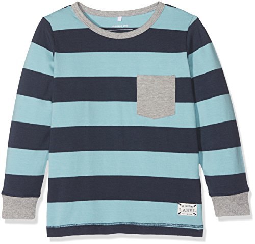 NAME IT Baby-Jungen Langarmshirt Nmmdallas LS Top, Blau (Nile Blue), 104