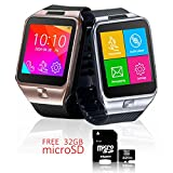 Indigi® Android 4.4 Smartwatch + Phone + WiFi + Bluetooth + Stepcounter – GRATIS 32 GB SD