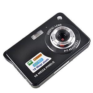 PowerLead Mini Digital Camera 2.7 inch TFT LCD 8x Digital Zoom HD 720P(Black)