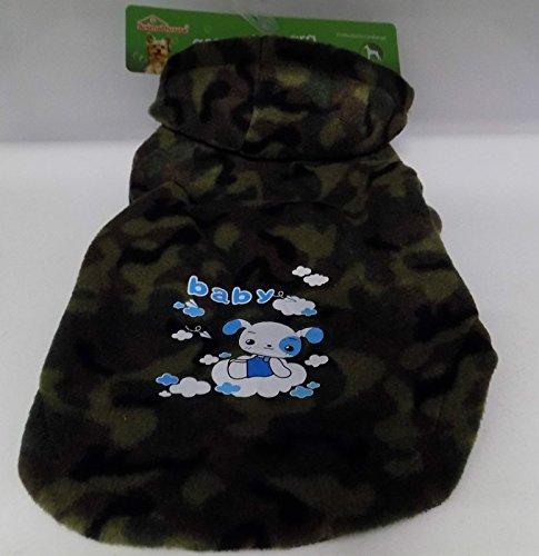 Jacke Militärische Fleece Typ für Hund Gr. L (35x 45x 32cm) (Militärische Kleidungsstücke)