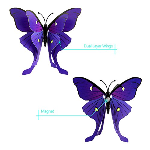 Favorito ivencase® 96 Pezzi Farfalle 3d Parete, DIY Adesivi da Parete  LZ47