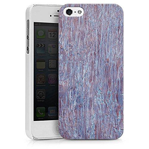 Apple iPhone X Silikon Hülle Case Schutzhülle Holz Perlmutt Muster Hard Case weiß