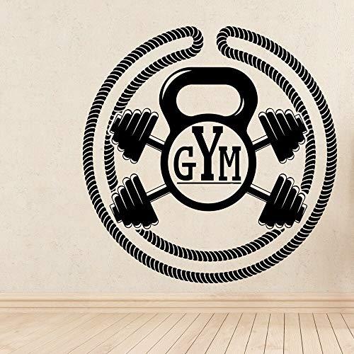 ganlanshu Maßgeschneiderte Gym Kunst wasserdichte Wandaufkleber Kinderzimmer Dekoration Wandbild wasserdichte Aufkleber 57cmX57cm
