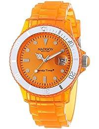 MADISON NEW YORK Unisex-Armbanduhr Candy Time Jelly Mix Analog Quarz Plastik U4631-04/1