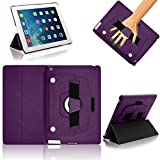 iPad Air 2 Case Cover, Gorilla Tech Protective Case with Elastic Hand Strap, Stand and Detachable Front Panel for convenient use, iPad Air 2 (6th Generation), (Purple)