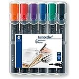 Rotulador permanente Staedtler Lumocolor 350WP6, punta gruesa, colores surtidus (pack de 6), color multicolor