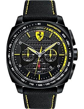 Ferrari Herren-Armbanduhr XL AERO EVO Chrono Analog Quarz Textil 830165