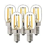 Nicht Dimmbar,T20 1W 220V E14 2200K Ultra Warme Beleuchtung Filament Hohe Betriebsdauer Antike Edison Stil Birne - 5er-Pack